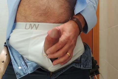Teasing And jerking off A admirable Tool With Precum In Some White Boxer underwear