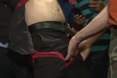 Tattoo homosexual tied With cumshot