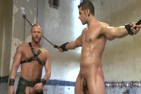 Muscle gay bound And Facial love juice