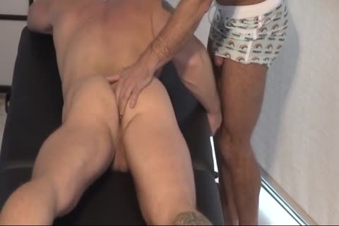 GayRoom Daddy Seduces Tattoo Hunk On Patio